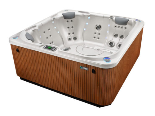 HotSpring-Limelight-2015-Flair-Pearl-Teak-Sideview-No-Stairs