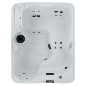 azure freeflow premier series hot tub overhead image