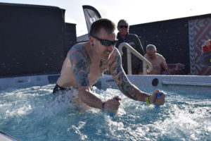 Triathletes try out our Endless Pools, Peterborough Showroom